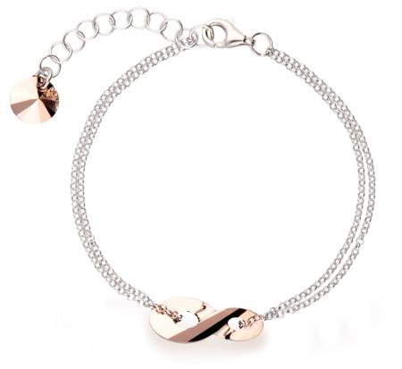 Bransoletka srebrna - łańcuszek