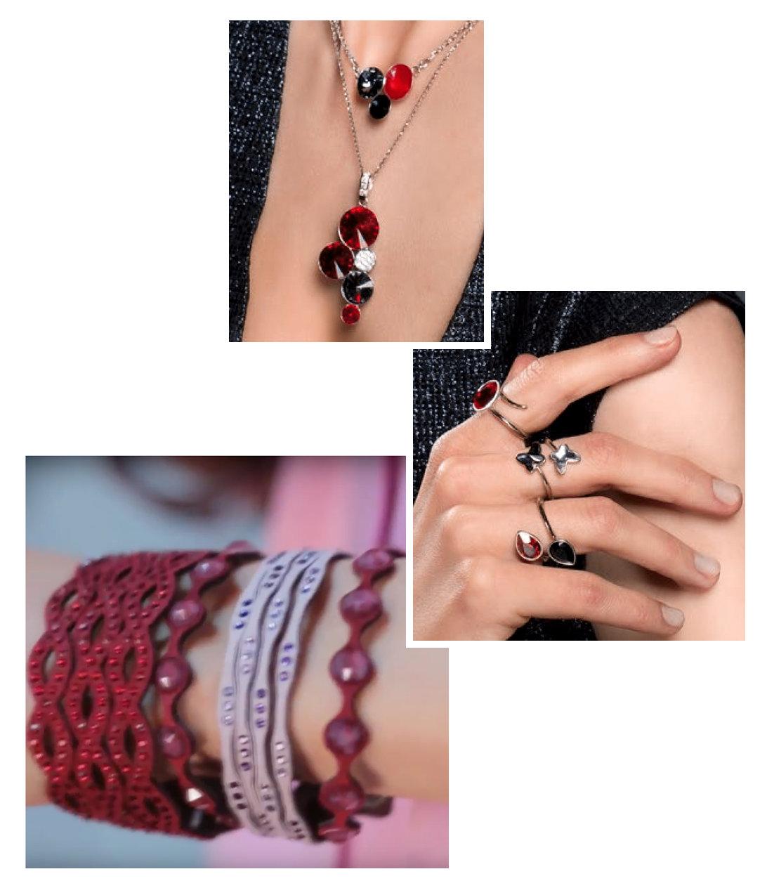 czerwona biżuteria