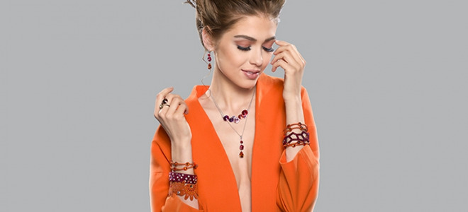 Burgundy Autumn with SPARK SILVER JEWELERY